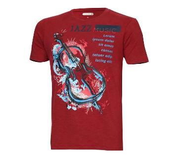 mens half sleeve cotton tshirt for men( HZ-TS-2006 Maroon )