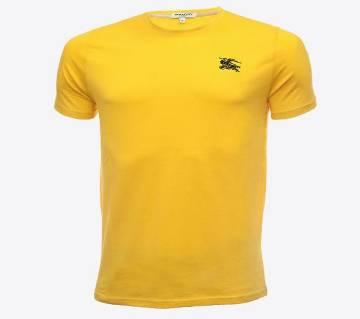 mens half sleeve cotton tshirt for men( BR-TS-001 Yellow )