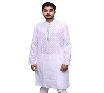 Traditional 7029 Semi long cotton punjabi