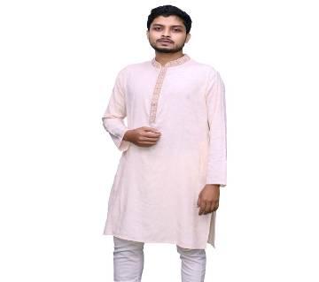 traditional Panjabi 7024 Semi long cotton punjabi