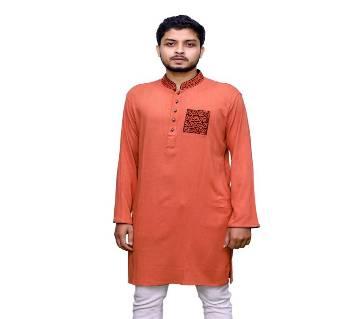 Traditional Panjabi 018 Semi long cotton punjabi