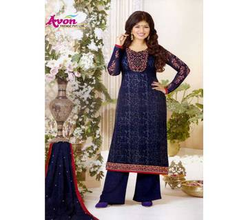 Unstitched Gorgeous Embroidery Indian Three Piece Dress for Women