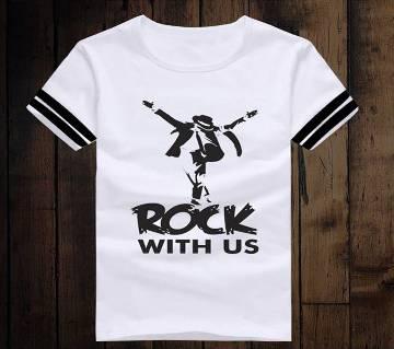 Rock With US হাফ স্লিভ টি-শার্ট