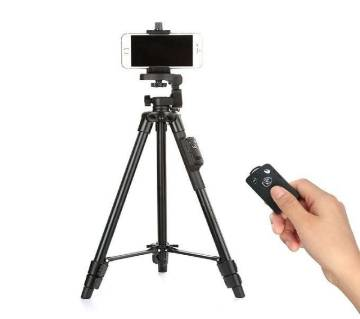 43cm Tripod with Bluetooth Remote Control Shutter for Mobile Phones, DSLR, and Sports Cameras - Black