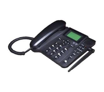 Dual SIM রিচার্জেবল GSM ল্যান্ড ফোন সেট - ব্ল্যাক