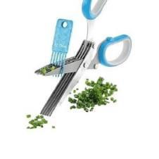ভেজিটেবল কাটার 5 ব্লেড সিজর - Green and Silver