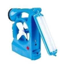 সোলার রিচার্জেবল 3 In 1 ফ্যান উইথ লাইট - Blue