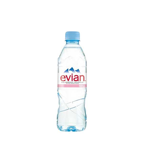 Evian Natural Mineral Water 500 ml