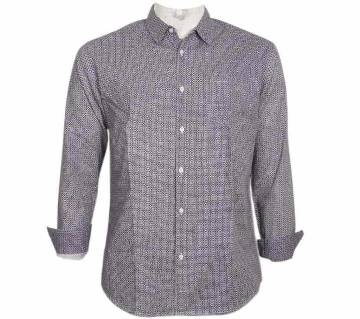 COTTON PRINTED SLIM FIT CASUAL SHIRT