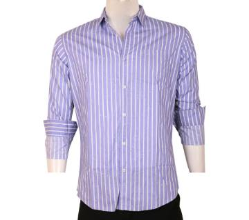 100% Cotton Strip Print Full Sleeve Casual Slim Fit Shirt