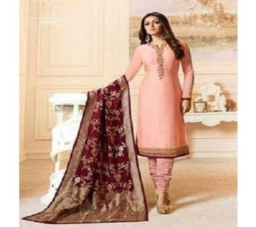 Semi Stitched Georgette Three Piece  For Women