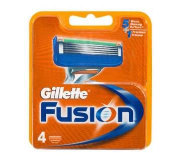 Gillette Fusion Blades - 4 Cartridges