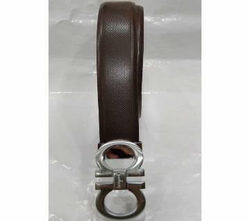 Ferragamo Broun Leather Belt for Men