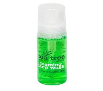 Tea tree foaming face wash 200ml UK