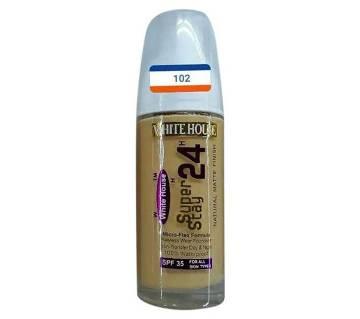 White house super stay 24H natural matte finish lhquid  foundation No 102  28 ml USA