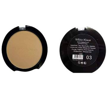 White house 100% waterproof 24H stay matte face powder no 03  0.13 gm USA