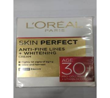 Loreal skin perfect 30+ anti - fine lines whitening cream 50 gm India