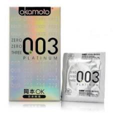 Okamoto 003 Platinum Super Ultra Thin condoms - 10 parties