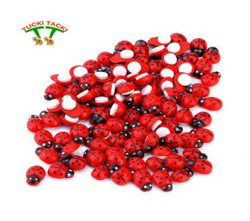 Wooden lady Bugs Self adhesive