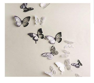 3D Butterfly wall Stickers (18 Pcs)