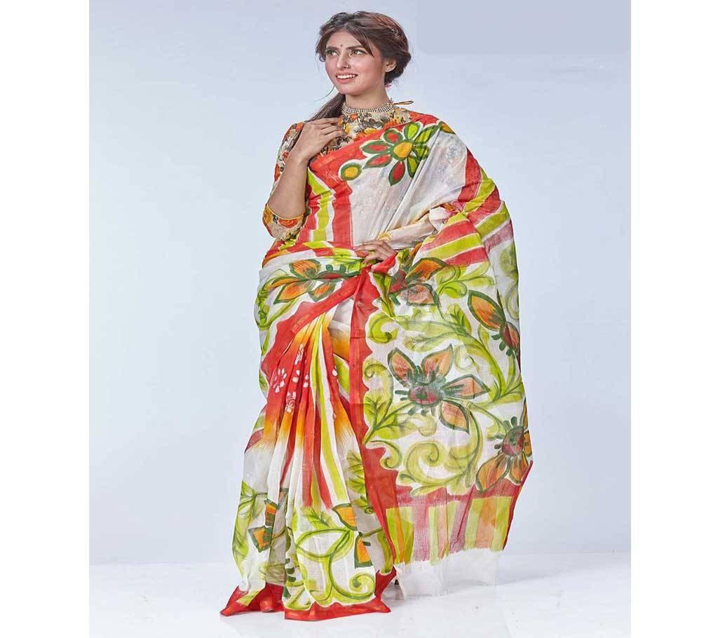কটন কোটা হ্যান্ডপ্রিন্ট শাড়ী বাংলাদেশ - 908925