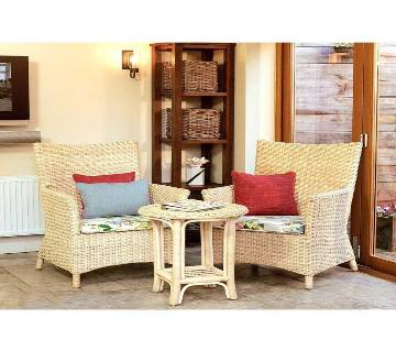 Design Cane Tea Table Set - Brown