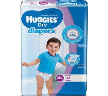 HUGGIES Dry Baby Diaper (XL) - Malaysia