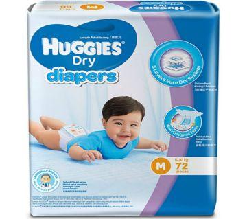 HUGGIES Dry Baby Diaper (M) - Malaysia