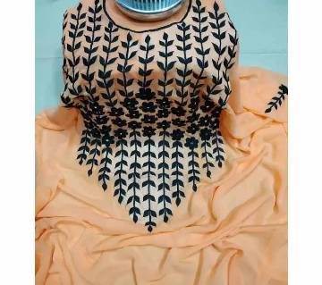 Unstitched Georgette Embroidery Karchupi Work Kurti