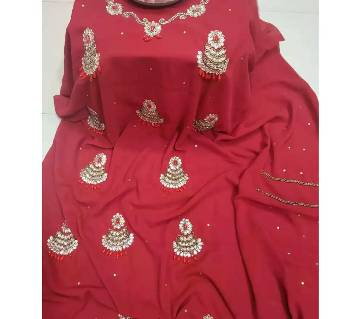 Unstitched Georgette Karchupi Work Kurti