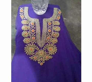 Unstitched Embroidery Work Stone Setting Georgette Kameez