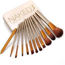 Naked3 মেকআপ ব্রাশ সেট (Pack of 12) UK