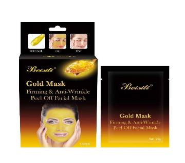 Beisiti gold mask firming & anti-wrinkle peel off facial mask 200g Thailand