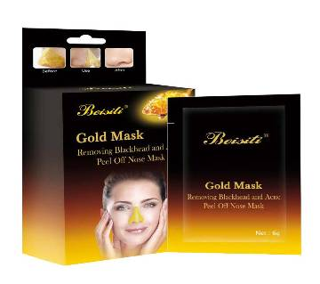 Beisiti  gold mask removing blackhead and acne peel off nose mask 60g Thailand