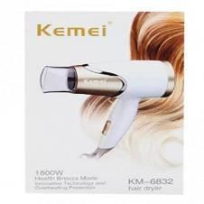 Kemei KM-6832 Mini House White Hair Dryer