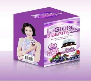 L-Gluta 5 Berry Plus ++ Whitening & Anti Aging Vitamins - 30 Tablets