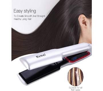 Kemei KM957 Professional Hair Straightener Lcd Hair Curler Straighten Irons Adjustable Aluminum Plate Temperature