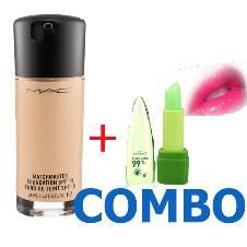MAC: Mattr Liquid Foundation with lip gloss (Combo) China