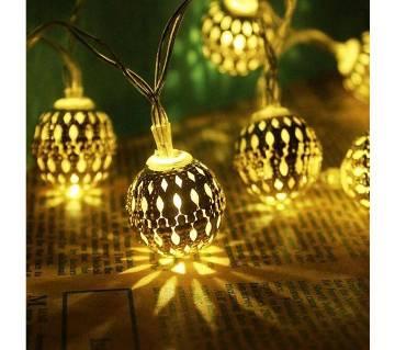 Golden Metal Ball Fairy Light