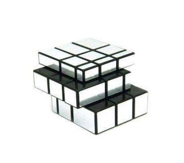 Mirror Block Rubiks Cube - Silver And Black