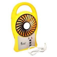 Portable Mini Fan with LED Light - Yellow