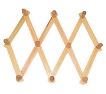 Wooden Hanger and Coat Rack - Brown