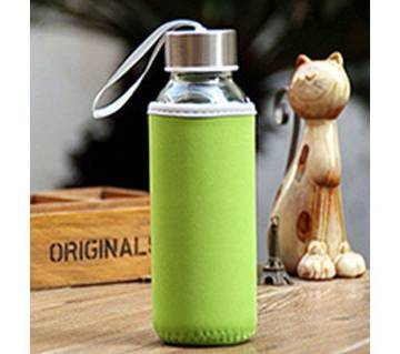 300ml Glass Bottle Borosilicate Water with Cloth Pouch