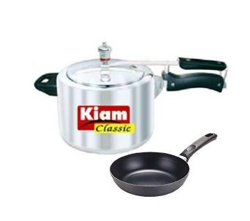 Kiam Classic Pressure Cooker 2.5 L - 14CM Non-Stick Frypan