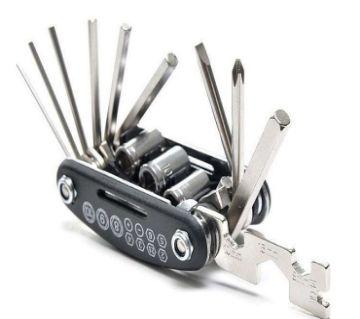 16 in 1 Bike Pocket Repair Tools Set Bicycle Multifunctional Tool Kit