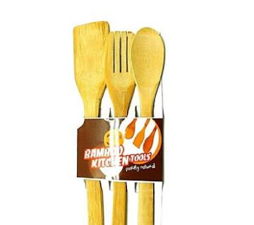 Bamboo Kitchen Tools - Brown