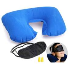 3 In 1 Travel Comfort Neck Pillow - Blue
