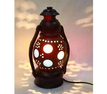 Single Hurricane (M) Lamp - Chocolate and Black