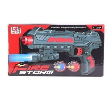 Plastic Fire Strom Toy Gun - Black