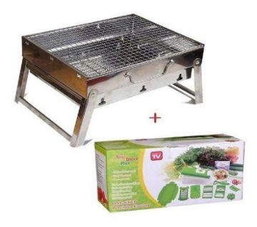 Outdoor Portable BBQ Stove and Nicer Dicer Plus - Combo